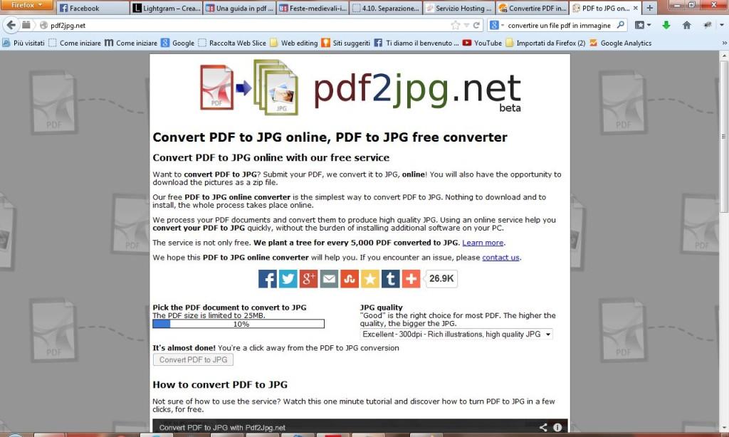 4 convertire pdf a jpg