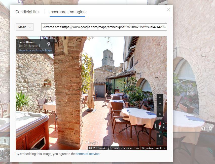 incorporare immagini street view 1