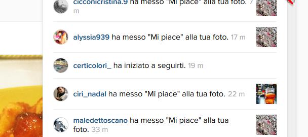 instagram visualizza notifiche su web